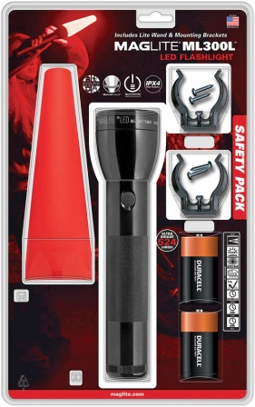 ML50449 Mag-Lite ML300L LED Safety Pack Flashlight