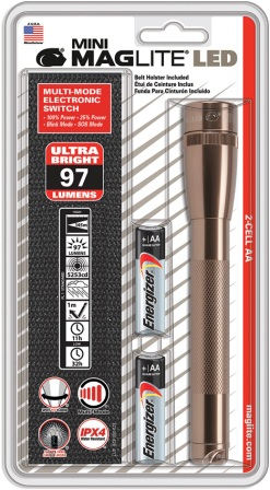 ML53596 Maglite Flashlights & Accessories Mini Maglite LED 2AA Copper