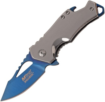 MTA882SBL Mtech 3 Inch Blue Ti Blade Framelock Pocket Knife