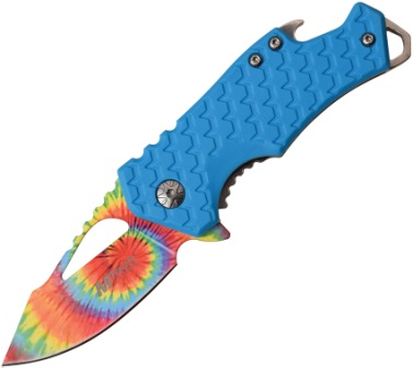 MTA882TBL MTech Knives Tie Dye Framelock Pocket Knife Blue A/O