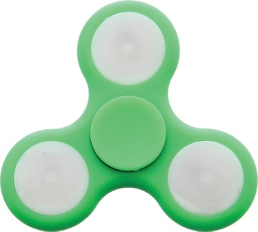 NV297 Novelty Cutlery LED Spinner Green