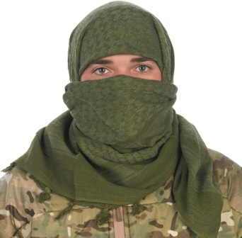 ProForce Military Camcon Sniper Face Veil Scarf Black Cotton PF61060 New
