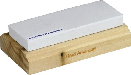 RHP30972 RH Preyda Hard Arkansas Stone Knife Sharpener on Wood