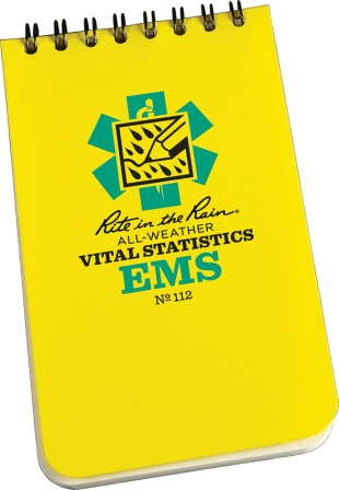 RITR112 Rite in the Rain EMS Vital Stats 3x5