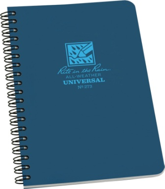 RITR273 Rite in the Rain Side Spiral Waterproof Notebook Blue