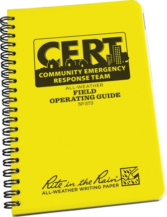 RITR573 Rite in the Rain CERT Field Operators Guide