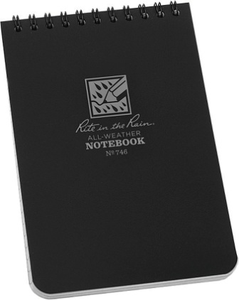 RITR746 Rite in the Rain Top Spiral Notebook Black