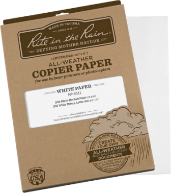 RITR8511 Rite in the Rain Copier Paper White 200 Sheets