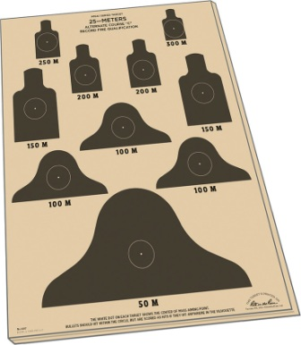 RITR9127X Rite in the Rain 25m Target Sheets M16A1 10