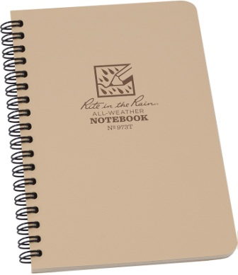 RITR973T Rite in the Rain Side Spiral Notebook Tan
