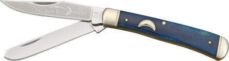 RR1194 Rough Rider Once in a Blue Moon Series Trapper Pocket Knife