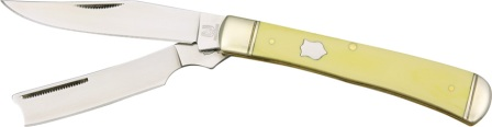 RR892 Rough Rider Old Yellow Razor Trapper Pocket Knife