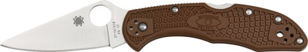 SC11FPBN Spyderco Brown Delica Pocket Knife