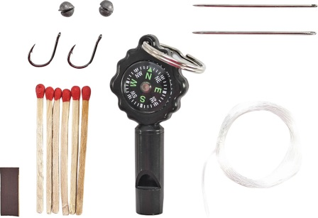 SCHSK1 Schrade Survival Kit Whistle with Compass