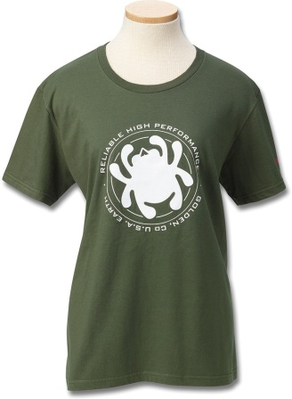 SCTSWRHPS Spyderco Womens T-Shirt Green Bug Small