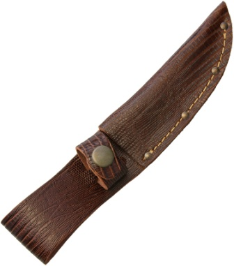 GENUINE TOOLED LEATHER SHEATH TO FIT CERTAIN LARGE SWISS ARMY KNIVES SH248