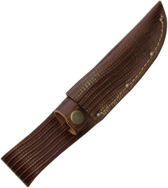SH1181 Fixed Blade Knife Belt Sheath Lizard