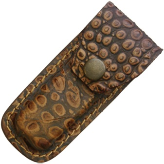 SH1190 Folding Pocket Knife Leather Belt Pouch Alligator