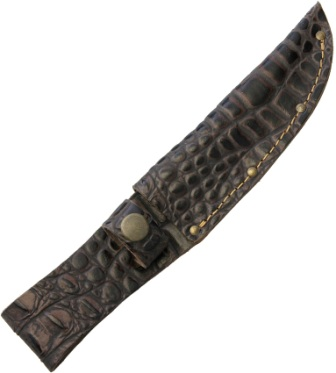 SH1193 Fixed Blade Knife Belt Sheath Crocodile