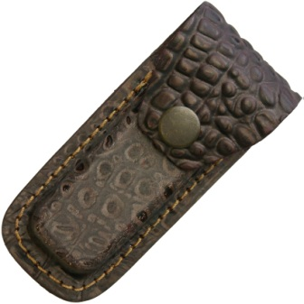 SH1196 Leather Folding Pocket Knife Belt Pouch Brown