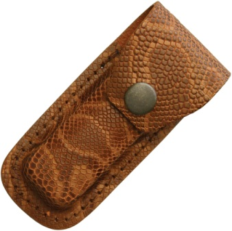 SH1202 Leather Folding Pocket Knife Belt Pouch Brown