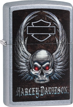 ZO00575 Zippo Lighters Harley Davidson Skull Lighter