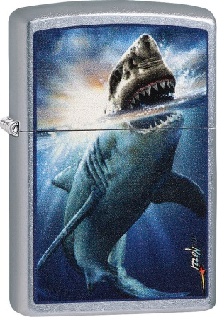 ZO01360 Zippo Lighters Mazzi Shark Attack Lighter