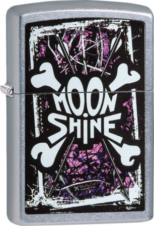 ZO02150 Zippo Lighters Moon Shine Muddy Girl Lighter