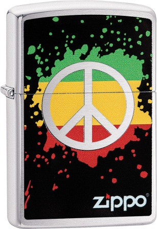 ZO02207 Zippo Lighters Peace Splash Lighter