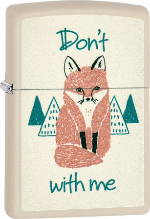 ZO02216 Zippo Lighters Dont Fox With Me Lighter