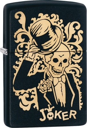 ZO02233 Zippo Lighters Skull Joker Lighter