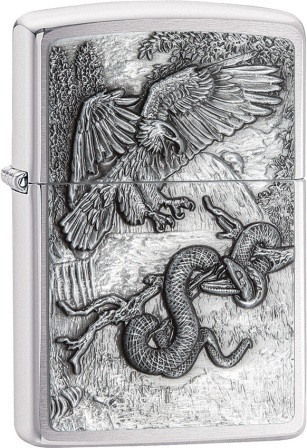 ZO02238 Zippo Lighters Eagle vs Snake Lighter