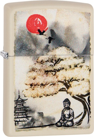 ZO08776 Zippo Lighters Pagoda Bonsai Buddha Lighter
