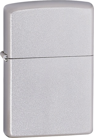 ZO10205 Zippo Lighter Satin Chrome