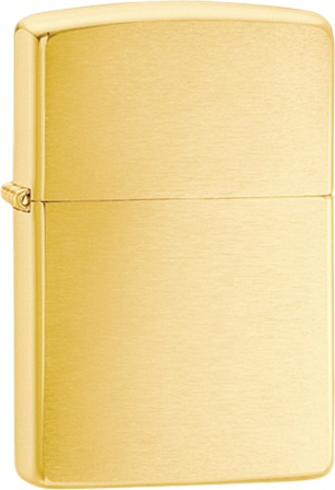 ZO10780 Zippo Lighter Brushed Brass