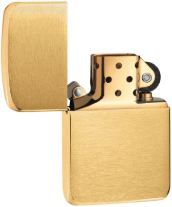 ZO11034 Zippo Lighters 1941 Replica Brush Brass Lighter