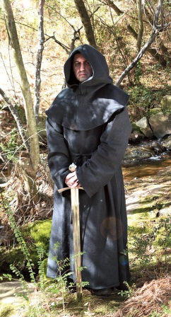 MRP100298BLK Monk's Black Robe