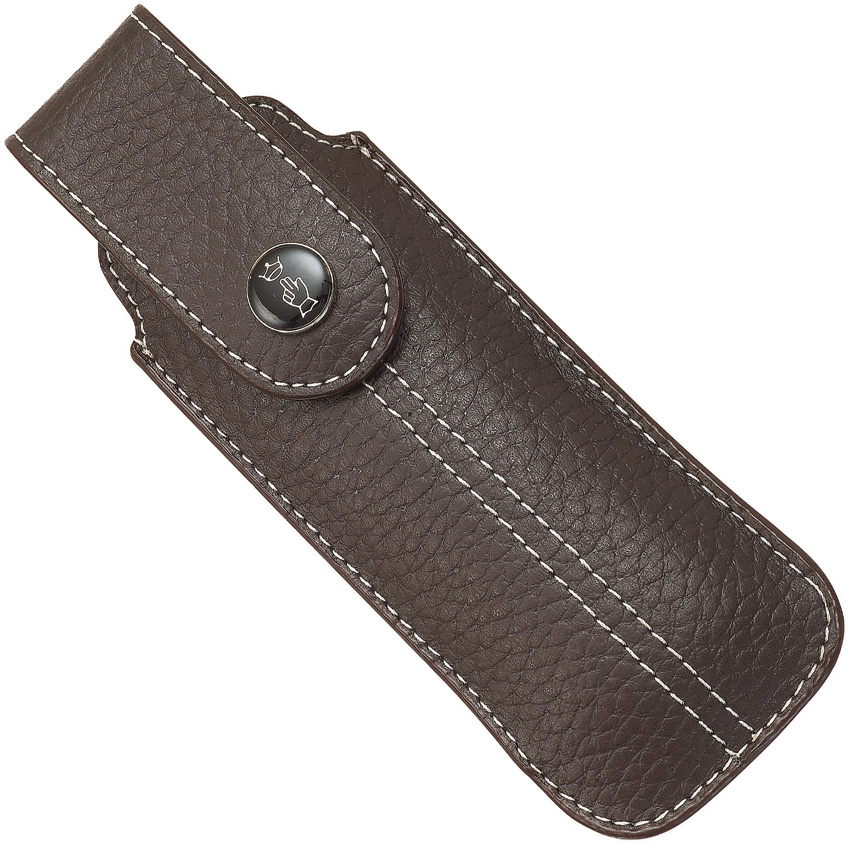 OP01547 Opinel Chic Brown Leather Folding Knife Sheath