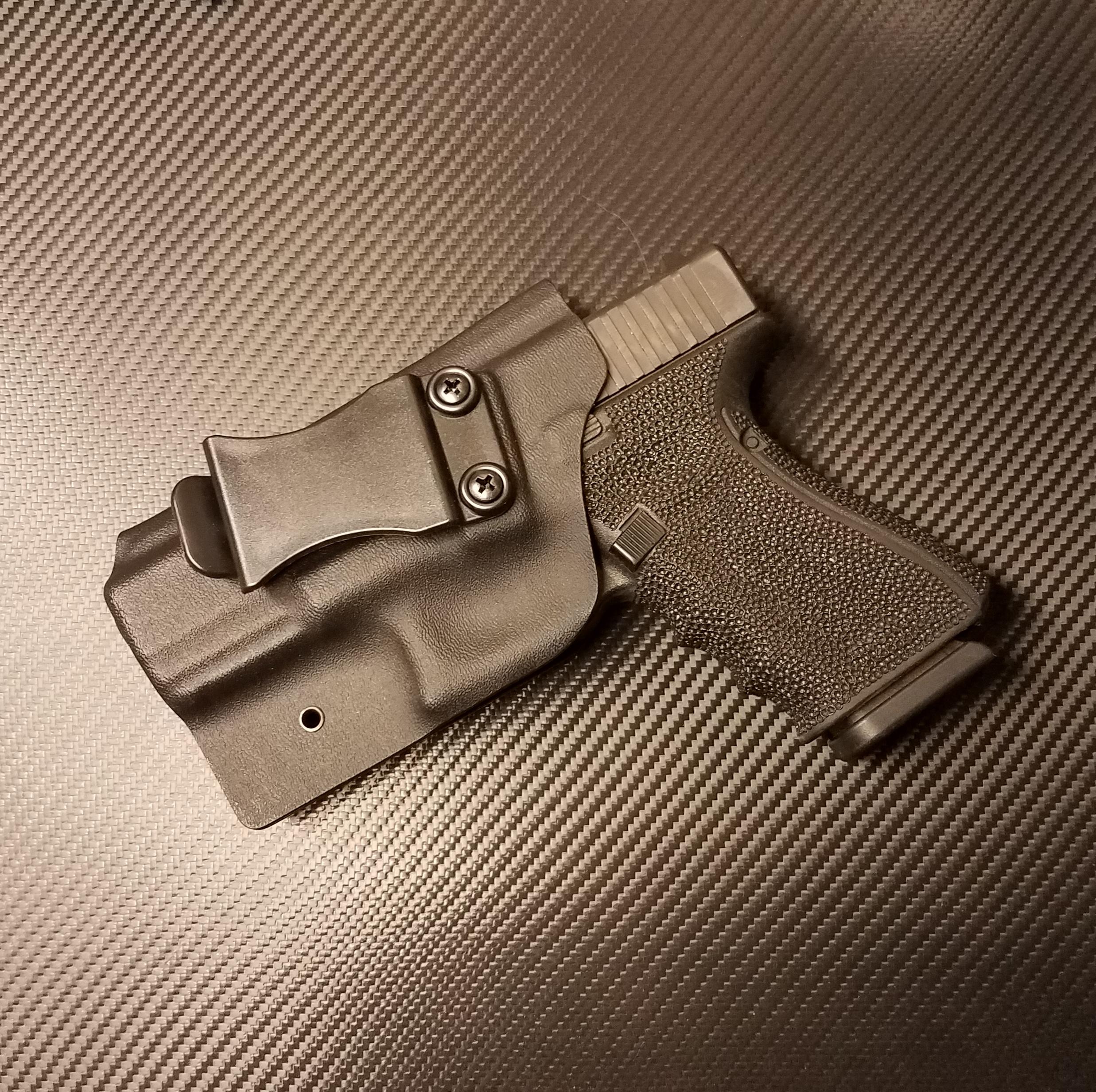 DCTACTFGHG19B Glock 19, Glock 23, Glock 32 Black Kydex Gun Holster