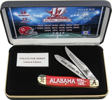 FAL17SETRSB Frost Cutlery Trapper Pocket Knife Alabama 2017 Champs