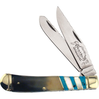 FBB108OXBP Frost Cutlery Bear & Bull Trapper Pocket Knife