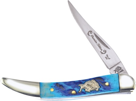 FBDG109DBJB Frost Cutlery Bulldog Small Toothpick Pocket Knife Blue Bone
