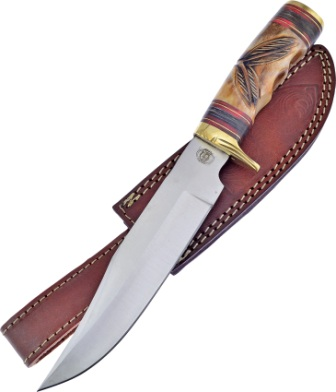 FCW07BRB Frost Cutlery Chipaway Two Feathers Bowie Knife