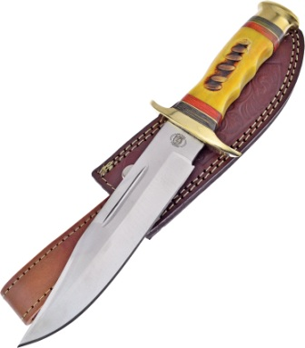 FCW600YB Frost Cutlery Chipaway Running Bear Bowie Knife