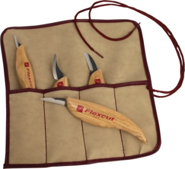FLEXKN100 Flexcut 4 Piece Wood Carving Knife Set