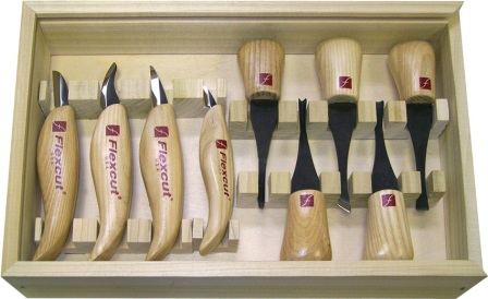 FLEXKN700 Flexcut Deluxe Palm Tool and Knife Set