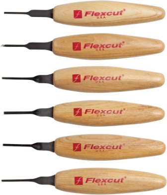 FLEXMT910 Flexcut Micro Tool Mixed Profile Set