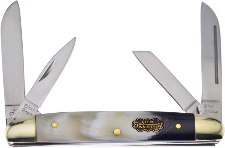 FSW115OX Frost Cutlery Steel Warrior Congress Pocket Knife Ox Horn