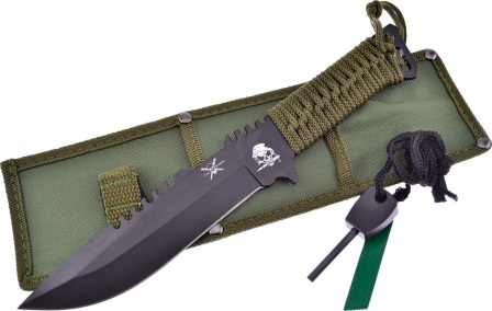 FTX3801B Frost Cutlery Fixed Blade Knife OD Green