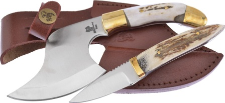 FWT921SET Frost Cutlery Whitetail Axe and Knife Combo Set Deer Stag